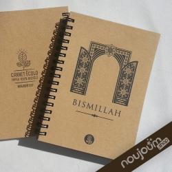 carnet écolo Noujoum en papier recyclé BISMILLAH