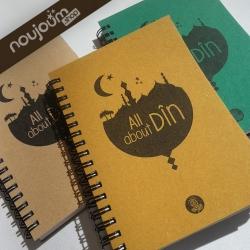 carnet écolo Noujoum en papier recyclé cadeau éthique musulman
