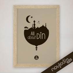 tableau islamique écoloqique sur Noujoum shop